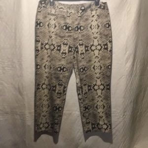 Cropped snakeskin print pant